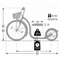 Preview: Kickbike Tretroller City G4 26/16 Zoll weiss