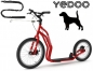 Preview: YEDOO MEZEQ Disc Dog-Scooter SPEZIAL rot