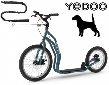 YEDOO MEZEQ Disc Dog-Scooter SPEZIAL blau
