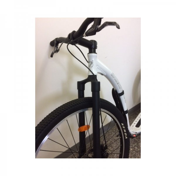 KICKBIKE Cross Fix Tretroller weiss DISC Brakes